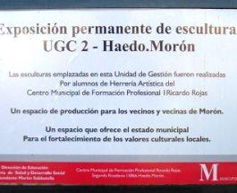Exposición permanente de esculturas en UGC 2 – Haedo